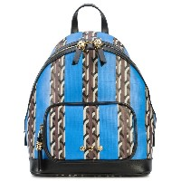 Dell' Est printed backpack - ブルー