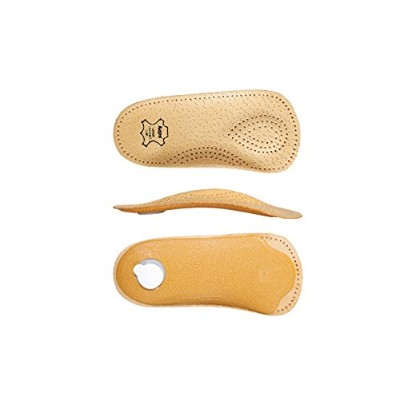 Orthotic Leather Insoles with Longitudinal and Transverse Arch Support, Kaps Bolero, All Sizes (Men...