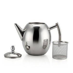 MyLifeUNITステンレススチールTeapot with Infuserティーフィルタ、ティーインフューザーPot with Lid , Tea Kettle forホーム50oz ( 1...