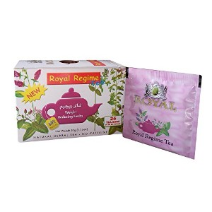 Royal Regime Tea Bags Weight Loss Reducing Herbal Slimming Herbs Detox Diet (1 Box / 25 Tea Bags)