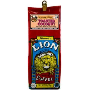Lion Toasted Coconut 24oz. Whole Bean Coffee by Lion Coffee