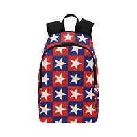 USA American Flag Patriotic Starsチェック柄カジュアルバックパックfor Adults Teenagerスクールバッグバックパック旅行ハイキングバックパックデイパック