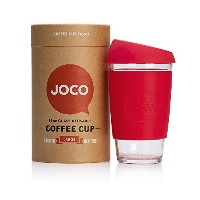 JOCO 16oz Glass Reusable Coffee Cup (Red) by JOCO