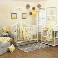 Stella 5 Piece Baby Crib Bedding Set with Bumper by The Peanut Shell by The Peanut Shell