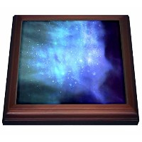 InspirationzStoreスペースデザイン–ブルースペースwith Stars–Outer spaceテクスチャ–Magical Galaxies Nebulas–SF SF...