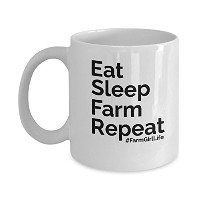 Eat SleepファームRepeat Funny FarmerギフトMug