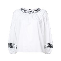 Joie embroidered puff sleeve blouse - ホワイト