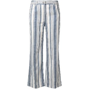Zimmermann striped cropped trousers - ブルー