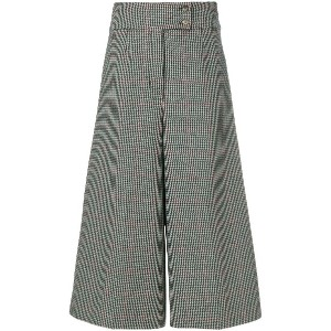 Holland & Holland high-waisted checked culottes - グレー