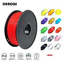 DARCOS 3Dプリンター PLA+ 新型 フィラメント 1KG Pla Filament 天然素材 クリアー for Makerbot / Reprap / UP Plus / 3DP-08BK...