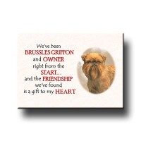 Brussels Griffon Friendship Fridge Magnet No 2