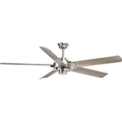 "Progress Lighting Ellwood 68 Ellwood 68 "" 5 Blade Ceiling Fan with CarvedウッドFA、 グレー P2546-09 1"