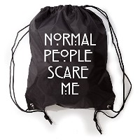 Normal People Scare Me巾着ジムバッグスニーカーバッグ