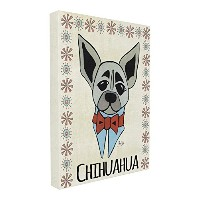 Stupellホーム飾りWhimsical Chihuahua Wearing蝶ネクタイキャンバス、16x 1.5X 20, Proudly Made in USA