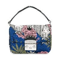 Furla brocade mini bag - ブルー