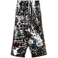 Haculla paint canvas shorts - ブラック