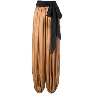 Kalita draped flared trousers - ピンク&パープル