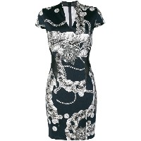 Just Cavalli Chain Reaction fitted dress - ブルー