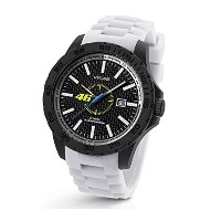公式Valentino Rossi vr46 TW Steel 45 mm Watchホワイトストラップ
