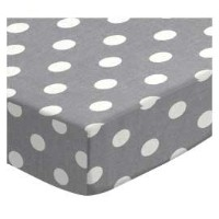 SheetWorld Fitted Pack N Play (Graco Square Playard) Sheet - Polka Dots Grey - Made In USA by...