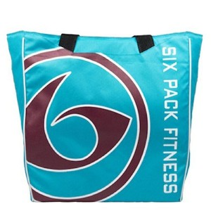 Fitness Prodigy Camille Meal Management Tote Blue/Maroon by 6 Pack Fitness