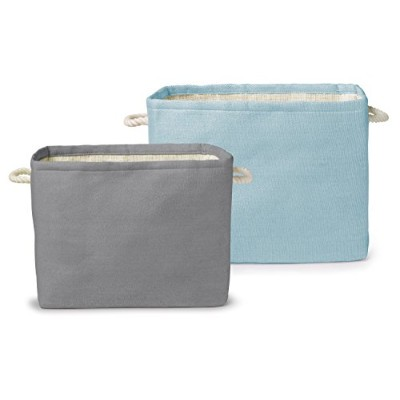 Delta Children Set of Two Rectangle Storage Totes, Blue/Grey, Large by Delta Children