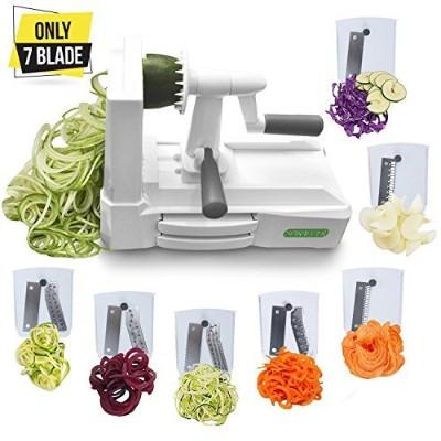 Spiralizer Ultimate Only 7-Blade Vegetable Slicer Strongest Heaviest Duty Veggie Pasta Spaghetti...