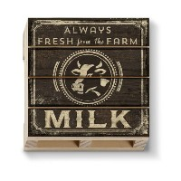 American Woodcrafters Dairy Milk Single木製パレットコースター