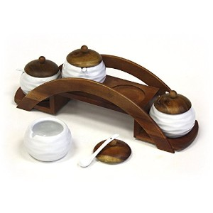 Mountain Woods Condiment and Spice Jar Serving Set