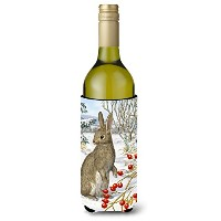 Caroline 's Treasures Rabbit with Berriesワインボトル飲料Insualtor Hugger、750 ml、マルチカラー