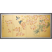 """Oriental Furniture 36"""" Shing Huo Blossom"""