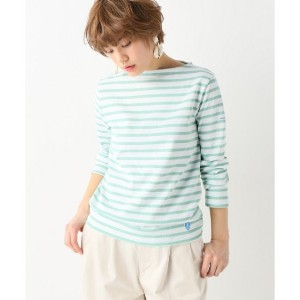 ORCIVAL MADE IN FRANCE ボーダーカットソー【イエナ/IENA レディス Tシャツ・カットソー グリーン ルミネ LUMINE】