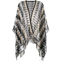 M Missoni wrap cardigan - ヌード&ナチュラル