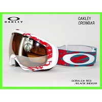OAKLEY CROWBAR SCRATCH WHITE-RED/BLACK IRIDIUMオークリーゴーグルASIAN-FIT 57-790J