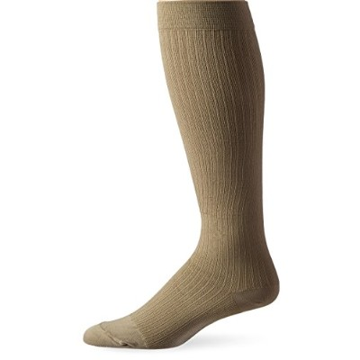 Jobst 110797 Mens Dress 8-15 mmHg Closed Toe Knee Highs - Size & Color- Khaki Medium