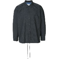 monkey time checked collared jacket - ブラック