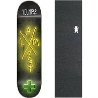 """Almostスケートボードデッキx-neon Youness Amrani 7.75""""樹脂7with Grizzly Griptape"""