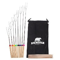 """Extendable to 32"""" Marshmallow Roastingフォーク、プレミアムSmores &キャンプファイヤーSkewers、8フォーク& 8竹Sticks withバッグ..."""
