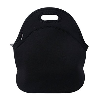 (Black) - Ambielly Neoprene Lunch Bag/Lunch Box/Lunch Tote/Picnic Bags Insulated Cooler Travel...