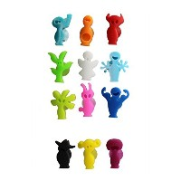 Excelity ®パーティーガラスカップボトルマーカータグwith Suction Cup Set of 12