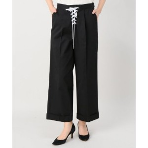 ★dポイントが貯まる★【JOINT WORKS(ジョイントワークス)】G.V.G.V twill laceup cropped trousers【dポイントでお得に購入】