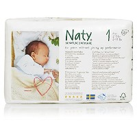 Naty by Nature Babycare Newborn ECO Nappies - Size 1, 2 x Packs of 26 (52 Nappies) by Naty by...