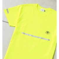 SAFETY S/S TEE【フーズフーギャラリー/WHO'S WHO gallery レディス, メンズ Tシャツ・カットソー イエロー ルミネ LUMINE】