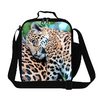Generic Personalized Leopard Print Thermal Lunch Bag for Teen Boys Fashion Lunch Box for Women Work...