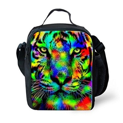 FOR U DESIGNS Fashion Lunchbox with Bottle Pocket for Adults Women Men Work-Tiger by FOR U DESIGNS
