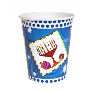 Hanukkah Party Paper Cups Dreidleデザインfor Chanukahパーティー24 Hannukahパーティーカップ