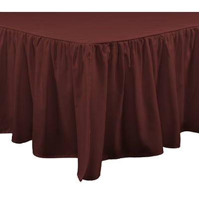 (Bed Skirt, King, Russet Red) - Brielle Bed Skirt, King, Russet Red