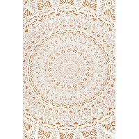 Zest For Life Tropical Island Mandala Tapestry Tablecloth Beach Sheet Wall Art 80x52 Inches Orange ...