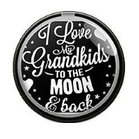 InterchangeableスナップジュエリーI Love My Grandkids To The Moon & Back by My Primeギフト