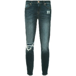 7 For All Mankind slim-fit distressed jeans - ブルー